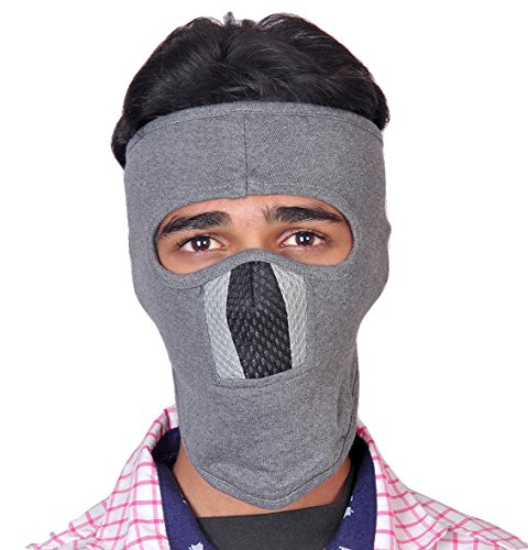 Diamond Mask Ninja Grey, Black Grey (Mesh) Biker Riding Anti...