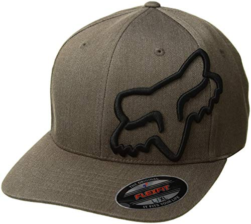 Fox Racing Men's Clouded Flexfit Hat Bark Brown LXL
