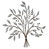 [en.casa] Kunstvolles Wandbild mit Einem 'Baum' Motiv - 80 x 2 x 70cm