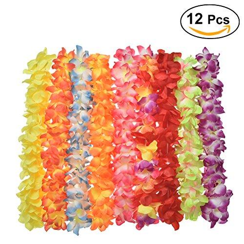 Tinksky-Luau-hawaiano-tropical-fuente-del-partido-guirnalda-collar-espesada-para-fiesta-Luau-playa-fiesta-12-PackRandom-Color