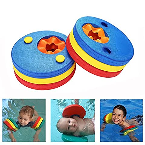 Kids Arm Float Discs, DesignerBox 6 pcs Swim Arm Brand Set Swimming Armbands Training Equipment for Pool (6