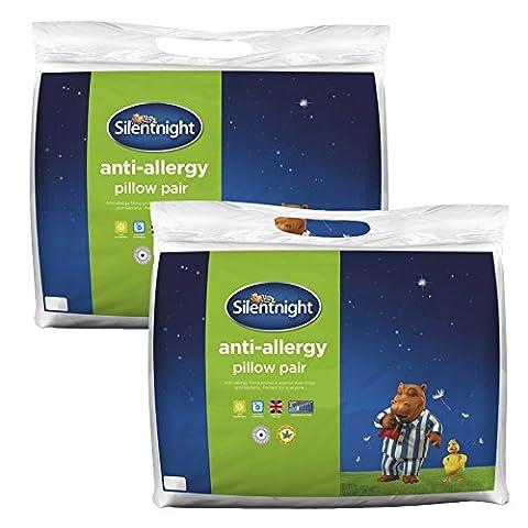 Silentnight Anti-Allergy Pillow, White, Pack of 4