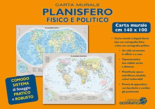 Planisfero fisico e politico