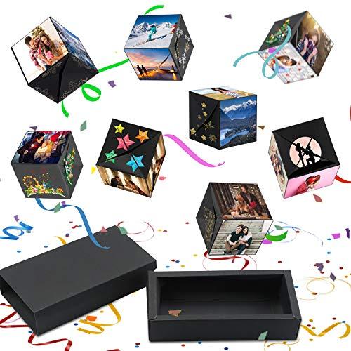 Tatuer Kreative Überraschung Box Explosions-box DIY Geschenkebox Handgemachtes Scrapbook Fotoalbum Zubehör Geburtstag Jahrestag Valentine Hochzeit Geschenk für Hochzeit Muttertag Weihnachten (Schwarz) -