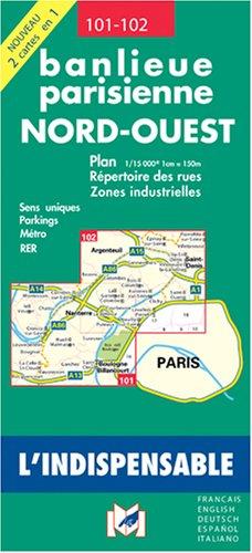 Plan de ville : Paris, banlieue Nord Ouest par Plans Indispensable