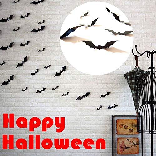 Jaminy Halloween Wandtattoo 3D Fledermaus Wand Aufkleber Halloween Party Dekorationen DIY Home Dekorationen - Verschiedenen Größe (2 Satz)