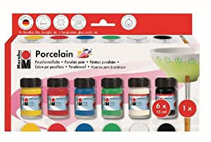Marabu 110500087 - Porcelain Starter Set 6 x 15ml
