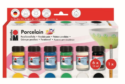 Marabu 110500087 - Porcelain Starter Set 6 x 15 ml