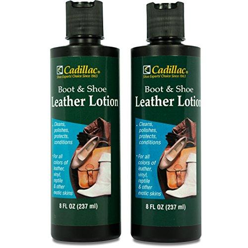 Cadillac Kofferraum und Schuh Leder Klimaanlage und Reiniger Lotion 8oz (2Pack)–Bedingungen, reinigt, poliert und schützt alle Farben der Leder–Ideal für Schuhe, Möbel, Handtaschen, Jacken & - Leder-lotion Möbel Für