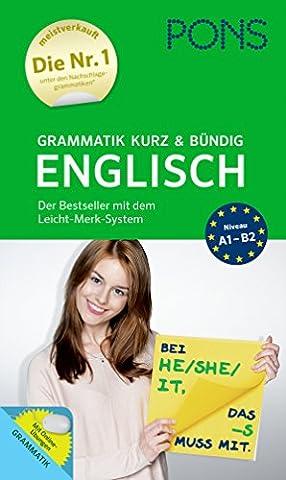 PONS Grammatik kurz und bündig Englisch - Der Grammatik-Bestseller* mit dem Leicht-Merk-System