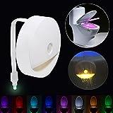 WC-Schüssel Light Sensor Motion aktiviert Badezimmer LED WC-Nacht Licht 8Farben