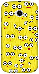 The Racoon Grip printed designer hard back mobile phone case cover for Motorola Moto E2. (Yellow Mon)