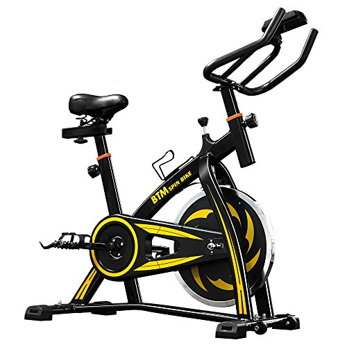 LIFE CARVER BTM Indoor Cycling Exercise Bike Spin Bike Studio Cycles Exercise Machines (yellow)