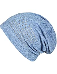 caripe Long Beanie Slouch Strass Anker Sterne - su999
