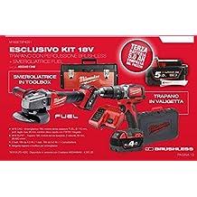 Exclusivo Kit 18V Taladro percutor - Motor 18 V Brushless + Amoladora Fuel