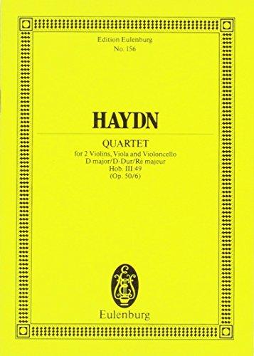 Quartetto Op. 50 N. 6 Re (Hob III/49) (Frosch) Poche