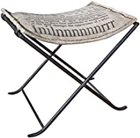 Links 86300340 Kalinga Chaise Métal Canvas Gris 50 x 40 x 47 cm