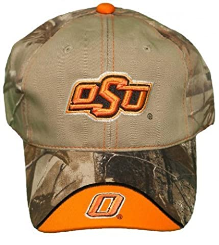 NEW! Oklahoma State Cowboys Buckle Back Hat Embroidered Real Tree Camo Cap by Outdoor Cap Company