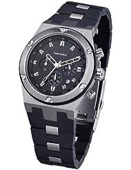 Time Force TF3270M01 - Reloj de caballero de cuarzo, correa de caucho color negro