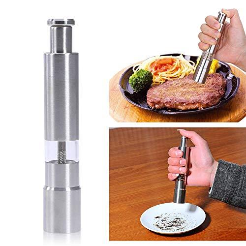Mnjin Pfeffermühle 2 In 1 Pfeffermühle Manuelle Salz Pfeffermühle Gewürz Küchenwerkzeuge Mahlen Zum Kochen Restaurants