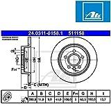 ATE 24.0311-0158.1 Disque de frein