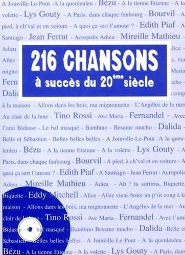 216 chansons à succès du 20ème siècle