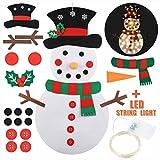 Yuciya Pupazzo di Neve di Natale in Feltro Set Decorazioni Natalizie Fai da Te Regali per Bambini Regali di Natale Decorazioni per la Casa