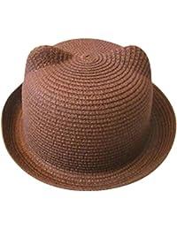 ❤️Amlaiworld Sombrero de Paja Playa Bebé niñas niño Gorro de Sol de Deporte  al Aire Libre Verano para Unisex Niños… d13fce519e7