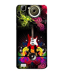 FUSON Designer Back Case Cover for Vivo Y27 :: Vivo Y27L (Abstract Colorful Music Dance Background Design )