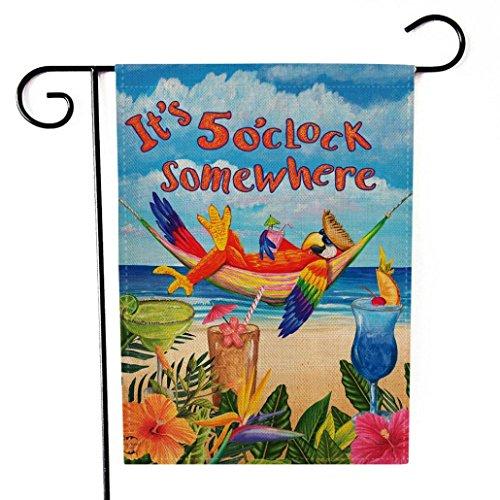 Garden Flag, BZLine® Garten-Flagge Indoor Outdoor Home Decor Buchstaben Blumen Flagge (C) (C Garden Flag)