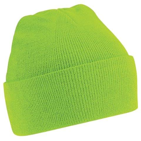 Beechfield Turn-up Beanie BC045 (Lime Green)