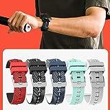 Diuspeed Bracelet de Montre pour Montre Intelligente, Bracelet de Montre Sport avec Bracelet pour Bracelet en Silicone Ticwatch Pro Bicolore