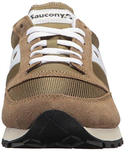 Saucony Herren Jazz Original Vintage Sneaker, Oliva / Bianco, 40 Eu Oliva Bianco