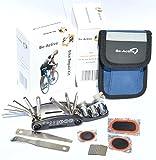 Be-Active Fahrrad Reparaturset - metallische Fahrradwerkzeuge / Reifen-Reparatur-Werkzeug-Set mit leicht zu tragender Tasche