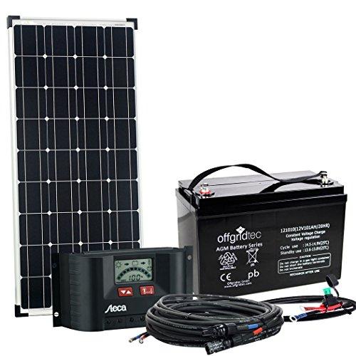 Offgridtec© 100 Watt Solaranlage BIG-L 100W 101Ah 12V