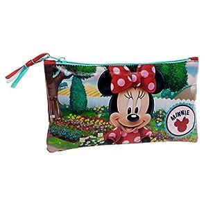 Disney Minnie Garden Neceser de Viaje, 0.76 litros, Color Rojo