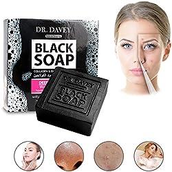 Jabón natural negro Wokaar aceite jabón orgánico hecho a mano.