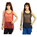 Younky Girls Top (Black And Red) (TPMK00...