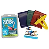 Fitness Mad Resistance Band Kit 3 Strengths of Band and handles (Red, Green, Blue)