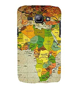 For Samsung Galaxy J2 J200G (2015) :: Samsung Galaxy J2 Duos (2015) :: Samsung Galaxy J2 J200F J200Y J200H J200Gu map, world map, paper map Designer Printed High Quality Smooth Matte Protective Mobile Case Back Pouch Cover by APEX