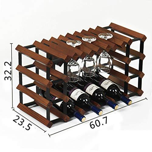 Weinglashalter aus Massivholz für Weinflaschenhalter, Flaschenhalter auf der Oberseite Größe 1