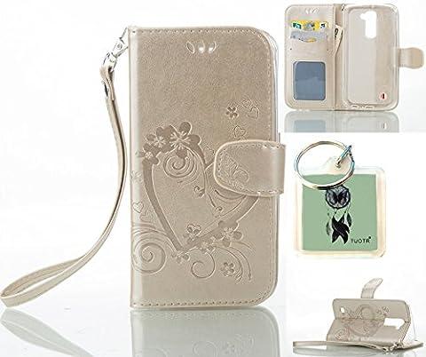 für LG K10 Hülle,Geprägte Muster Handy hülle / Tasche /