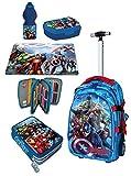 Avengers Ultron Set XXL Zaino Trolley Scuola Astuccio Triplo Set Colazione Ragazzo Bambino