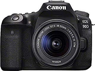 Canon EOS 90D Spiegelreflexkamera (32,5 MP, 7,7 cm (3 Zoll) Vari-Angle Touch LCD Display, APS-C Sensor, 4K, Full-HD, WLAN, Bluetooth) Gehäuse mit Objektiv EF-S 18-55mm F/3.5-5.6 IS STM schwarz (B07X3X2Y9Y) | Amazon price tracker / tracking, Amazon price history charts, Amazon price watches, Amazon price drop alerts