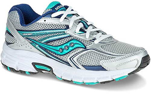 Saucony COHESION 9, Scarpe running donna, Silver/Navy/Teal Silver/Navy/Teal