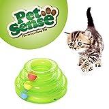 Petsense Amazing Cat Roller Toys–Interactive Tower Track & Balls Super Fun Livelli aeratore Ball & Track Toy Endless Interactive Play mentale Esercizio Fisico per Gatti