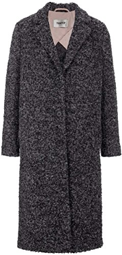 Ten117 Berlin Damen Jacke Mantel COAT CAROLINA, Farbe: Grau, Größe: 42