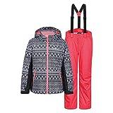 Icepeak Kinder Mädchen Skianzug Mehrfarbig, Farbe:Schwarz;Bitte Größe wählen:164