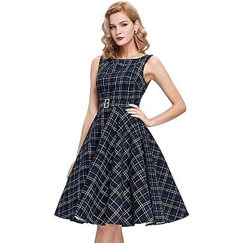 Belle Poque Retro Dress - Vestido - corte imperio - Sin mangas - para mujer