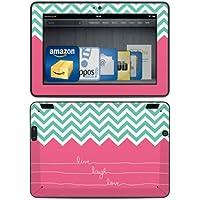 DecalGirl - Skin adhesivo para Kindle Fire HDX (3ª generación - modelo de 2013), diseño Live Laugh Love